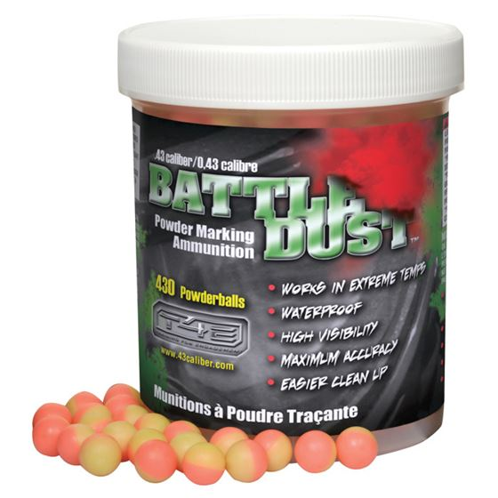 Picture of T4E BATTLE DUST .43 CAL DUST BALL AMMO PINK/YELLOW 430CT