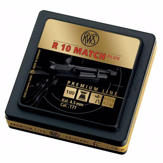 Picture of RWS R10 MATCH + PREMIUM LINE-4.50 MM  8.2 G (500 CT)