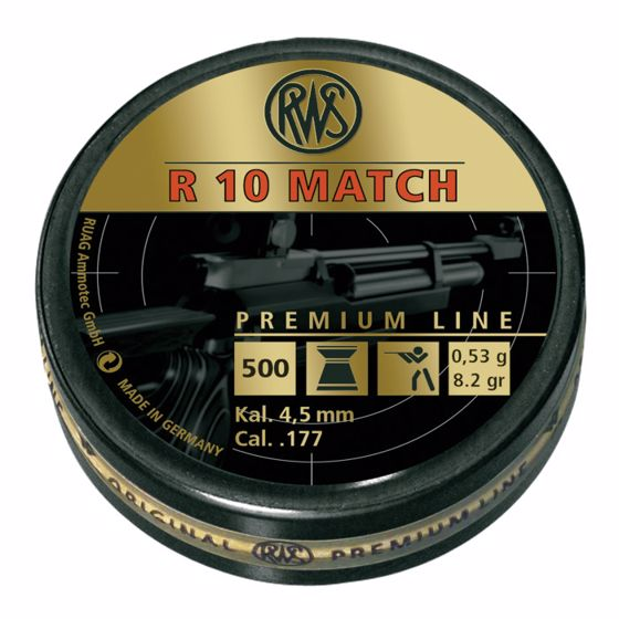 Picture of RWS R10 MATCH PREMIUM LINE HEAVY 4.50 MM (8.2 GRAINS) 500CT