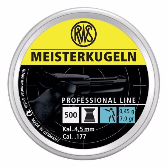 Picture of RWS MEISTERKUGELN PISTOL PROFESSIOL LINE .177 500CT