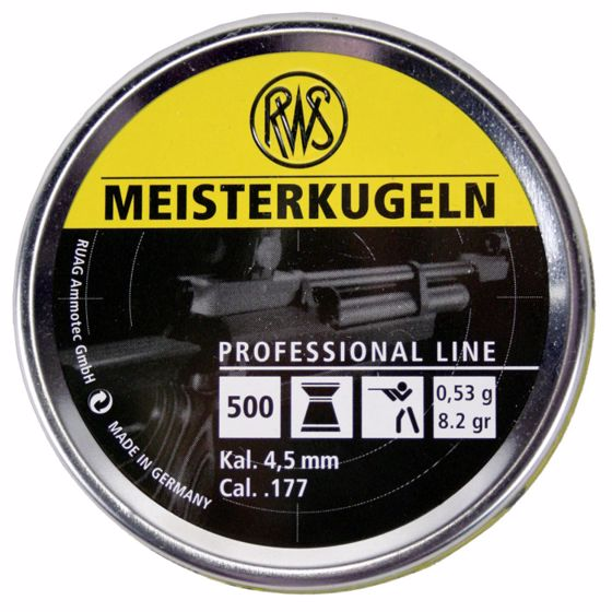 Picture of RWS MEISTERKUGELN PROFESSIONAL .177 CALIBER AIRGUN PELLETS 500CT : UMAREX AIRGUNS