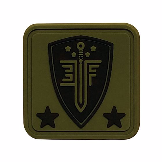 Picture of ELITE FORCE 1X1 SQUARE RUBBER HELMET PATCH GREEN