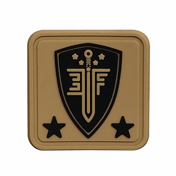 Picture of ELITE FORCE 1X1 SQUARE RUBBER HELMET PATCH TAN