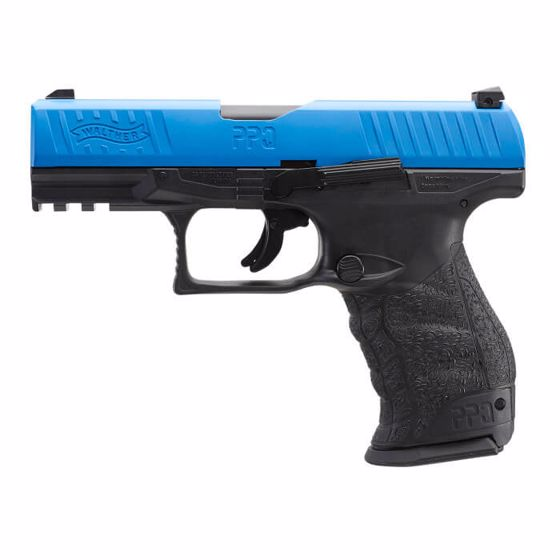 Picture of T4E WALTHER PPQ M2 LE BLUE TRAINING MARKER PISTOL .43 CAL BLUE/BLACK