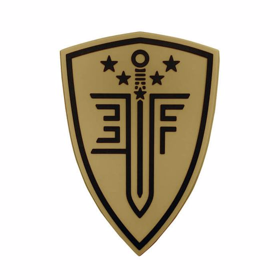 Picture of ELITE FORCE SHIELD RUBBER PATCH TAN