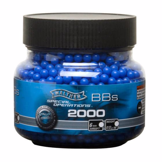 Picture of Walther BLUE 6mm Airsoft BBS .12g - 2000 CT Umarex Airguns
