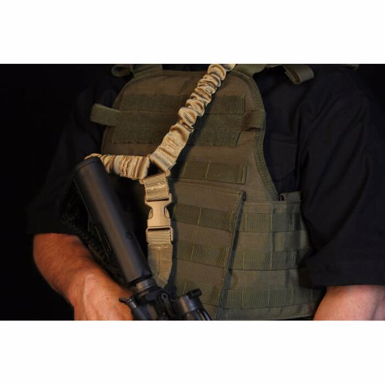 Picture of ELITE FORCE DUAL BUNGEE SINGLE POINT SLING TAN