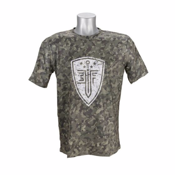 Picture of EF FRONT LINE RESOLUTION TSHIRT (SS) GREEN CAMO-MED