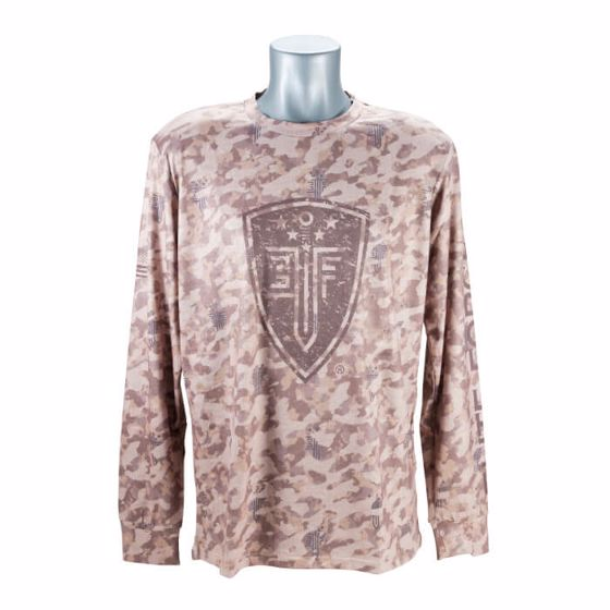Picture of EF FRONT LINE RESOLUTION TSHIRT (LONG SLEEVE) TAN CAMO-LG