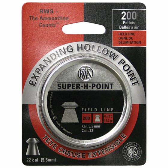 Picture of RWS SUP H POINT .22 200 CT BLISTER