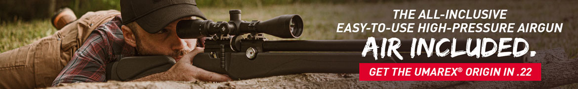 The All-Inclusive Easy-to-Use High-Pressure Airgun. Air Included. Get the Umarex Origin in .22