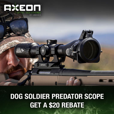 Axeon 4-16x50 IGR Dog Soldier Scope Rebate Offer